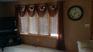 Brown Curtains Curtain Window Coverings Valances Drapes Home Decor