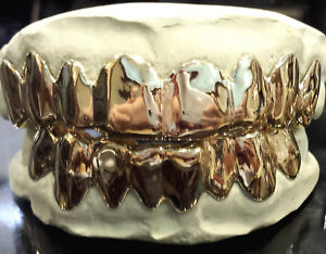 925 Sterling Silver Custom fit Handmade Grillz Plain Silver teeth REAL Grill