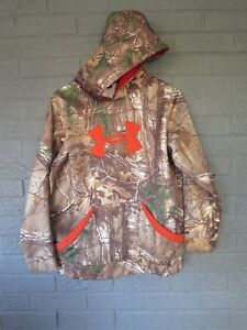 UNDER ARMOUR YOUTH STORM HOODIE PULLOVER JACKET XL REALTREE XTRA CAMOUFLAGE
