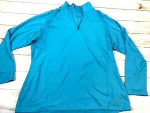 Champion 34 Zip Long Sleeve Pullover Athletic Running Shirt Womens XL