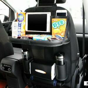 Car Back Seat Organizer Foldable Storage Bag Table Holder Auto Accessories Tools