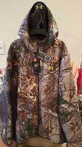 Men's Under Armour Stealth Storm1 Fleece Jacket Hoodie RealTree Water Repellent