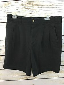 ASHWORTH Sz 34 Black Golf Dress Shorts Men's
