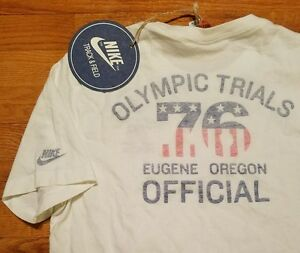 *ULTRA RARE* NIKE OLYMPIC TRIALS 76 Retro TRACK Shirt Men M Oregon running ducks