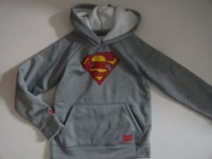 NWT Under Armour Boy's Superman SMALL 7-8 ColdGear Storm1 Hoodie