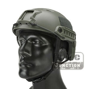 Emerson Tactical Fast Helmet BJ Type Bump Jump Advanced Adjustment w Side Rail