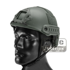 Emerson Tactical Fast Helmet Bump MICH Ballistic Type w NVG shroud + Side Rail