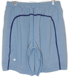 lululemon Mens Pace Breaker Shorts (Lined) Size Large in Blue Waves Silver Spoon