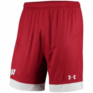 Wisconsin Badgers Under Armour 17 Mens Uar Replica Soccer Shorts Bottoms - Red