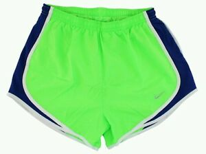 NIKE Dri-Fit Tempo Running Shorts -Women's Large (GreenNavy) NEW WITH TAGS