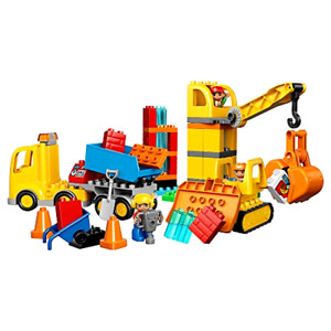 LEGO DUPLO Town Big Construction Site Best Toy for Toddlers Large Building Block