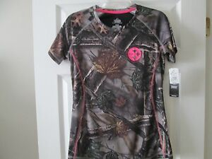 Pittsburgh Steelers Women's Camo Majestic COOL BASE Dry Fit Shirt New Small