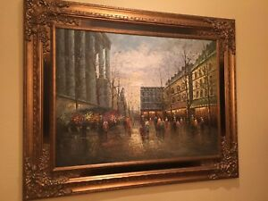 OIL PAINTING ORIGINAL 50 X 62 WITH FRAME EXCELLENT CONDITION SIGNED BY ARTIST $325.00