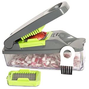 Onion Chopper Pro Vegetable - Strongest - NO MORE TEARS 30% Multi -Fruit-Cheese.