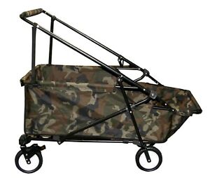 Impact Canopy Folding Wagon Utility Cart Collapsible Garden Buggy Outdoor Wagon