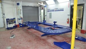 20' AUTO BODY FRAME MACHINE INCLUDING EVERYTHING IN PICS CLAMPS TOOL TOOLS CART
