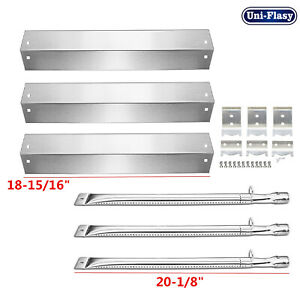 Char Griller Gas Grill Replacement Parts Kit Heat Plates Burners For Chargriller