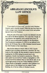 Authentic Piece of Abraham Lincolns Law Office Site On COA $24.95