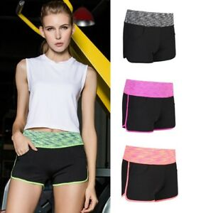 Women's Sport Workout Fitness Gym Yoga Shorts Running Pocket Shorts Short Pants