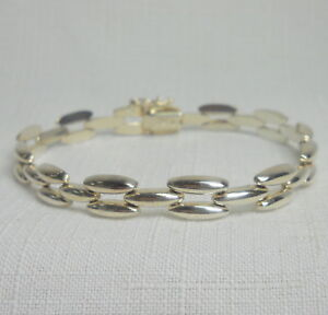 MEN'S Italian Sterling Silver 925 Vintage Estate Bracelet - 8 Inches -15.2 Grams