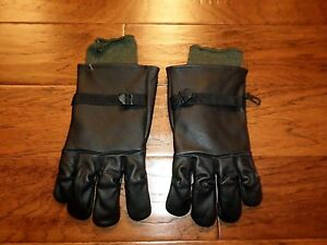 U.S MILITARY STYLE D-3A LEATHER GLOVES COLD WET WEATHER SIZE 5 LARGE WLINER