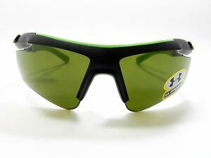 Under Armour Sunglasses DYNAMO Matte Black Green YOUTH FIT New Authentic