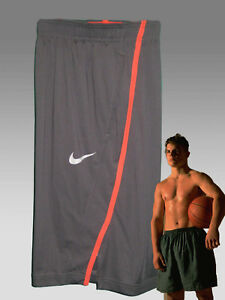 NEW NIKE Men's Fit-Dry Long Gym Fitness Basketball Shorts Charcoal Grey M