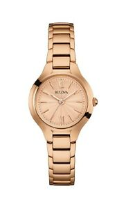 Bulova Classic Women's 97L151 Quartz Rose-Gold Bracelet 28mm Watch