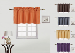 1 Small Swag Straight Insulated Foam Lined Blackout Rod Pocket Window Valance