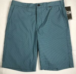 Nike Mens Hurley Dry-Fit Performance Size 38x21.5 Golf Shorts $65 Striped Blue