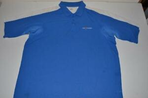 UNDER ARMOUR THE PLAYERS TPC GOLF BLUE WHITE DRY FIT POLO SHIRT MENS SIZE 2XL