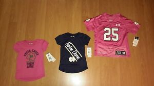 Under Armour Infant Toddler OR Young Girls' Notre Dame Fighting Irish Shirt 23+