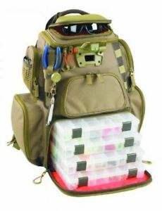 Tackle Box Backpack Fishing Lure Storage Bag 4 PT3600 Trays LED Lighted Interior