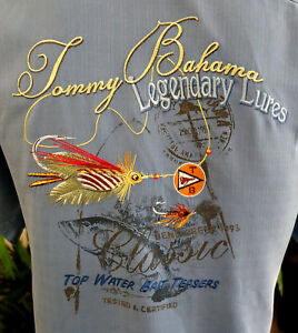 TOMMY BAHAMA EMBROIDERED SHIRT S