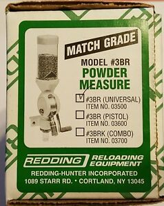 03500 REDDING 3BR MATCH-GRADE POWDER MEASURE - UNIVERSAL - NEW  FREE SHIPPING