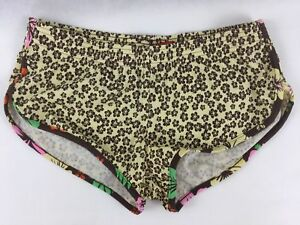 Mossimo Women S Workout Shorts Brown Yellow Floral Athletic Running Howsitems A4