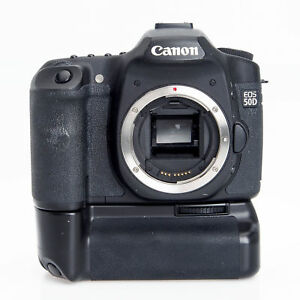 Canon EOS 50D 15.1MP Digital SLR 2807B006 Camera Zeikos ZE-CBG50 AA Battery Grip