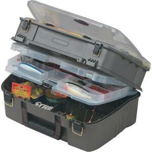 Tackle Box Plano Case Fishing 4 Layers Racks Storage Tool Organize Spinner Lure