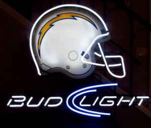 New Bud Light Los Angeles Chargers Helmet Neon Sign 17
