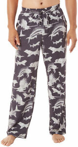 Reel Legends Mens Skeleton Fish Pajama Pants Large Skeleton fish blackwhite