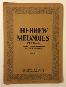 booklet Israel HEBREW MELODIES FOR PIANO ADAPTED FOR FERSHKO tel aviv 1950