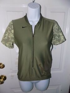 Nike Fit Dry 102 Short Sleeve 34 Zip Up Shirt Size S (46) Women's EUC