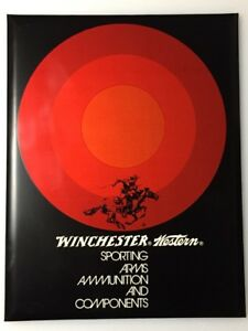 """Winchester Western Counter Wall Sign Tin New Old Stock W Original Box """"RARE"""""""