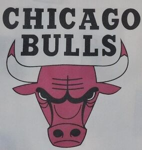 1 CHICAGO BULLS BASKETBALL QUILT BLOCK SEWING SQUARE Fabric Material Quilting $12.99