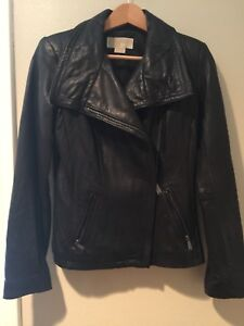 Michael Kors Genuine Leather Black Asymmetrical  Moto Jacket S PERFECT CONDITION