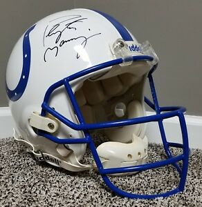 PEYTON MANNING Game Worn Used Autographed AUTHENTIC Helmet UPPER DECK NFL COLTS
