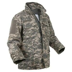 U.S MILITARY ISSUE M-65 FIELD JACKET WITH LINER ACU CAMOUFLAGE X- LARGE