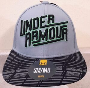 UNDER ARMOUR HAT Youth Boy Blue and Gray Baseball Cap Golf Skateboard Fishing