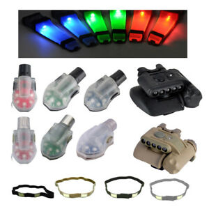 Tactical Helmet Accessory Cat Eye Band Safety Signal Survival Strobe Flash Light
