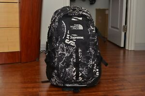 Supreme The North Face TNF Hot Shot Black Venture Backpack Box Logo Expedition